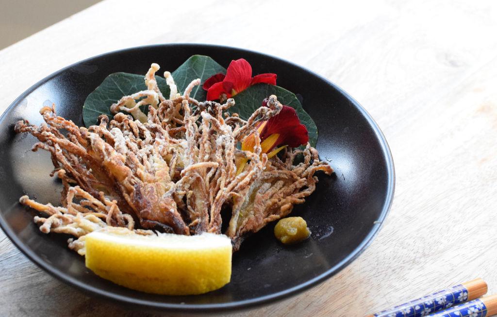 Enoki Karaage Deep Fried Enoki Mushroom