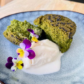 Sesame Flour and Mulberry Fine Powder Mushipan -Steamed Bread-  (Vegan, Gluten-free)