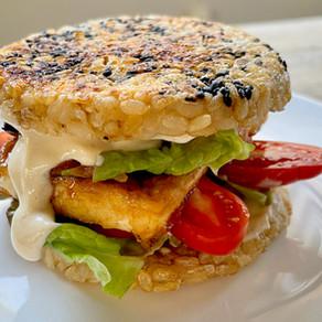 Brown Rice Buns Teriyaki Tofu Burger