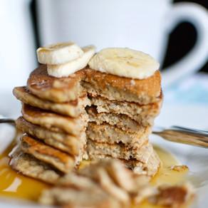 Gluten-free & Vegan Sesame Flour Pancakes