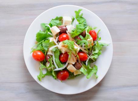 Tofu & Olive Salad with Japanese Balsamic Dressing