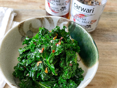 Blanched Kale with Sesame Dipping Sauce