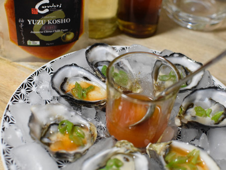 Fresh Oysters with Spicy Ponzu
