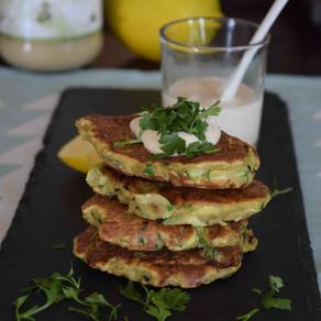 Zucchini & Chickpea Fritters (Gluten Free, Vegan)