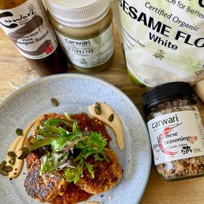 Tofu & Oats Patties with BBQ Tomato Sauce (Vegan)