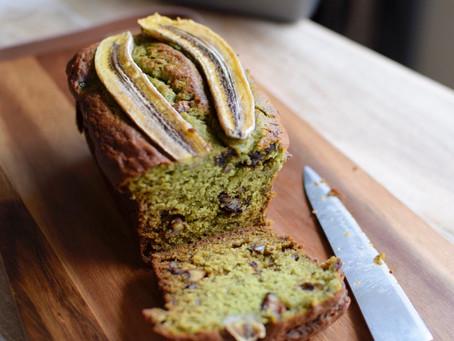 Mulberry Matcha Banana Bread (Vegan)