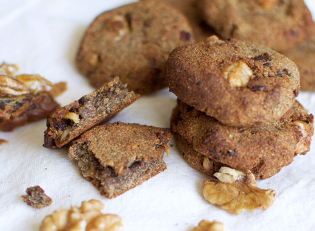 Sesame Flour and Buckwheat Flour with Walnuts & Dates Biscuits (Vegan & Gluten-free)