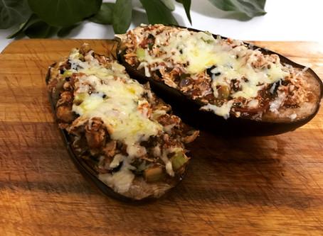 Bolognaise Stuffed Eggplants