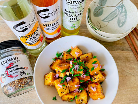 Spicy Mirin Teriyaki Tofu (Vegan, Gluten Free)