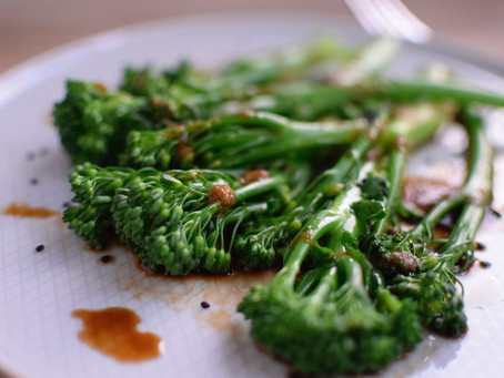 Boiled Broccolini with Yuzu Tamari Sauce