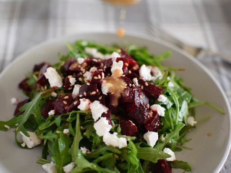Rocket & Beetroot Salad with Sesame Dressing
