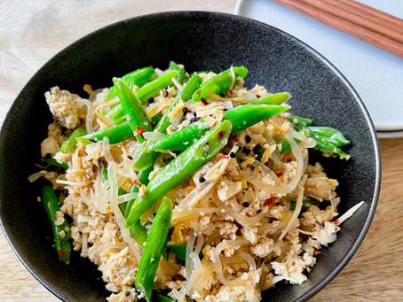 Scrambled Tofu with Konjac Shirataki Noodle (Vegan, Gluten-free)