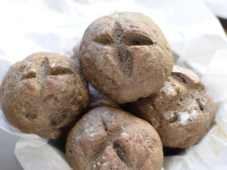 Sesame Flour & Molasses Bread Rolls