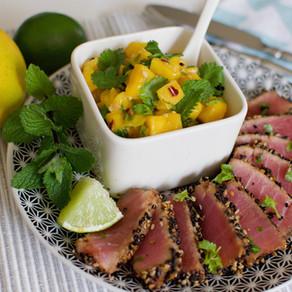 Seared Tuna and Mango Salsa