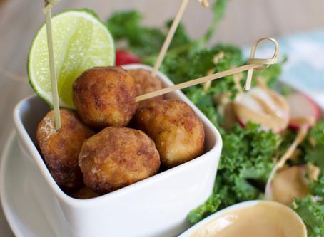 Deep Fried Tempeh Balls (Vegan)