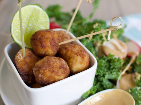 Deep Fried Tempeh Balls (Vegan)