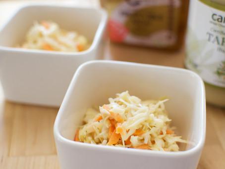 Miso Tahini Coleslaw Salad