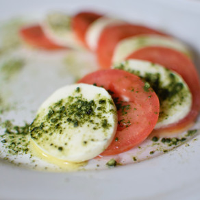 Tomato Salad with Mulberry Matcha