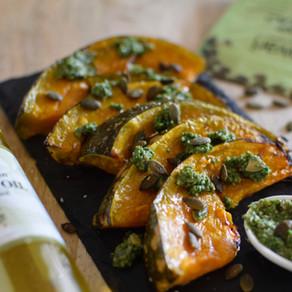 Roasted pumpkin and Kale & Pepitas Pesto