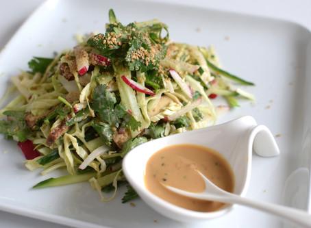 Tahini & Tamari Sauce with vegetables