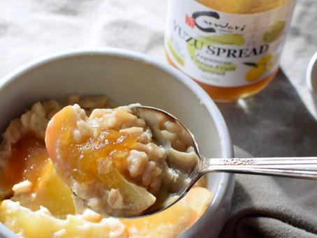 Oatmeal with Apple & Yuzu Spread (Vegan, Sugar-free)