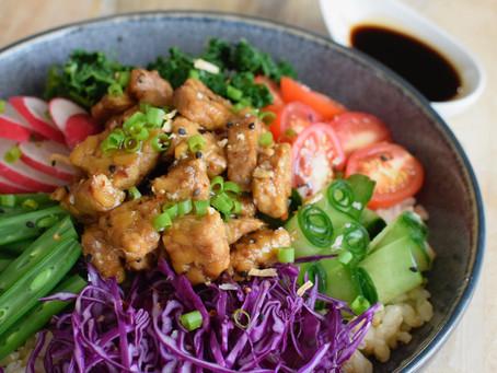 Teriyaki Tempeh Poké Bowl (Vegan, Gluten-Free)