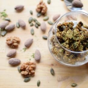 Mulberry Matcha Granola (Vegan, Macrobiotic)