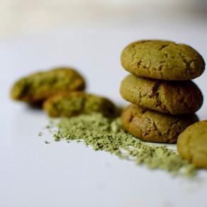 Sesame Flour & Mulberry Matcha Cookies (Vegan & Gluten Free)