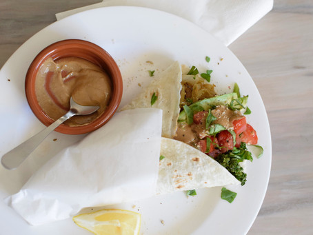 Kale & Caramelised Onions Vegan Wraps