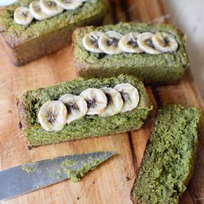 Mulberry Matcha Banana Bread (Vegan, Gluten-Free)