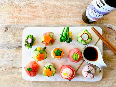 Vegetable Temari Sushi (Vegan, Gluten Free)