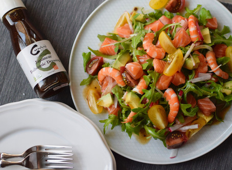 Seafood Salad with Japanese Balsamic Dressing