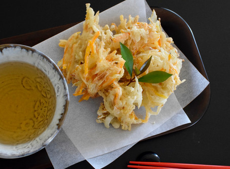 Ten Tsuyu (Tempura Dipping Sauce) & Kakiage (Mix Vegetable Tempura)