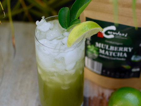 Mulberry Matcha Lime Tonic (Mocktail)