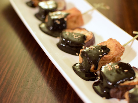 Black Dengaku Sauce (Sweet Miso Sauce) with Eggplant