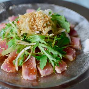 Seared Tuna Salad with Yuzu Kosho Ponzu Dressing