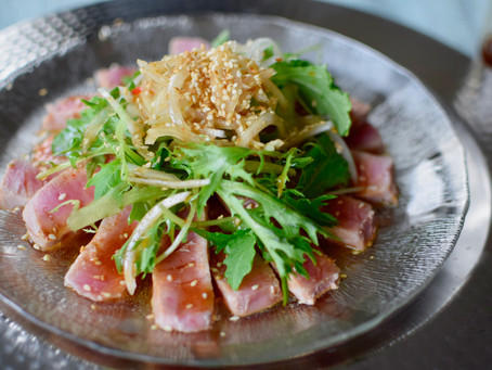 Seared Tuna Salad with Yuzu Kosho Ponzu Dressing