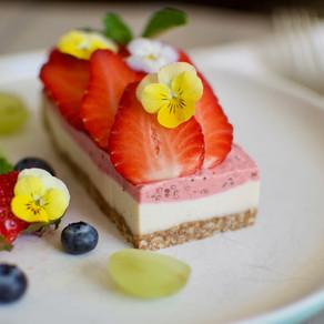 Strawberry & Lemon Vegan Cheesecake