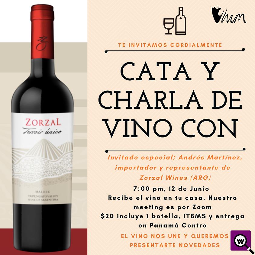 Cata de Vino y Charla con Zorzal Wines