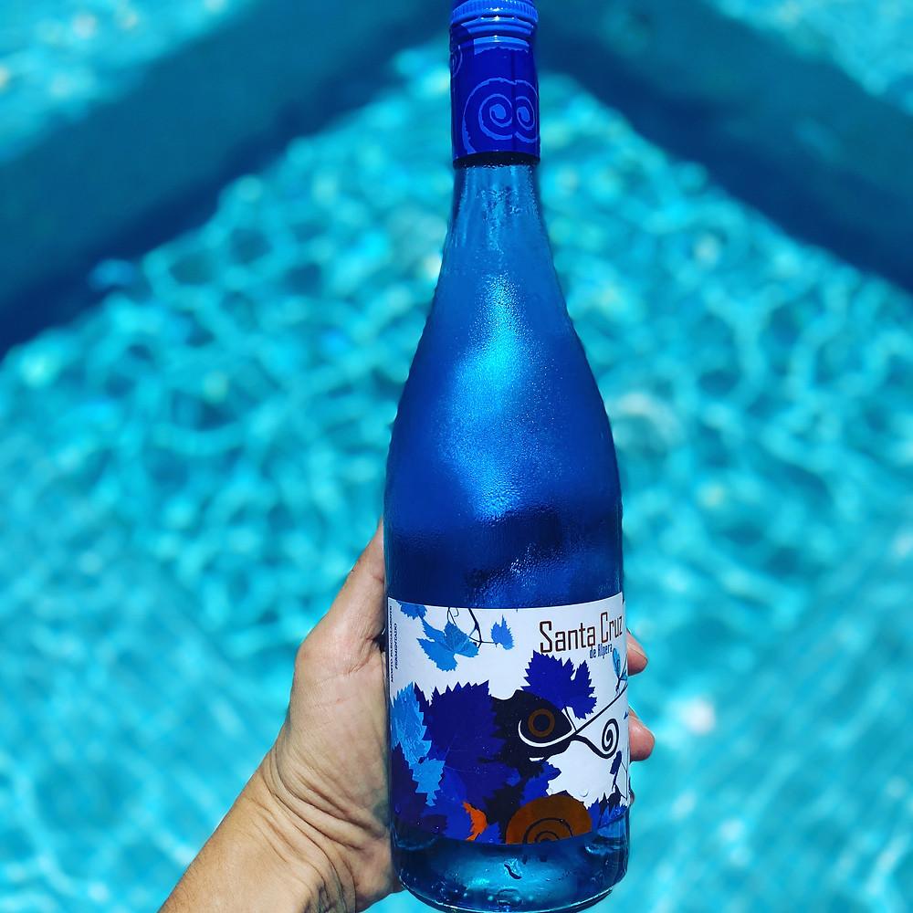 vino azul frizzante