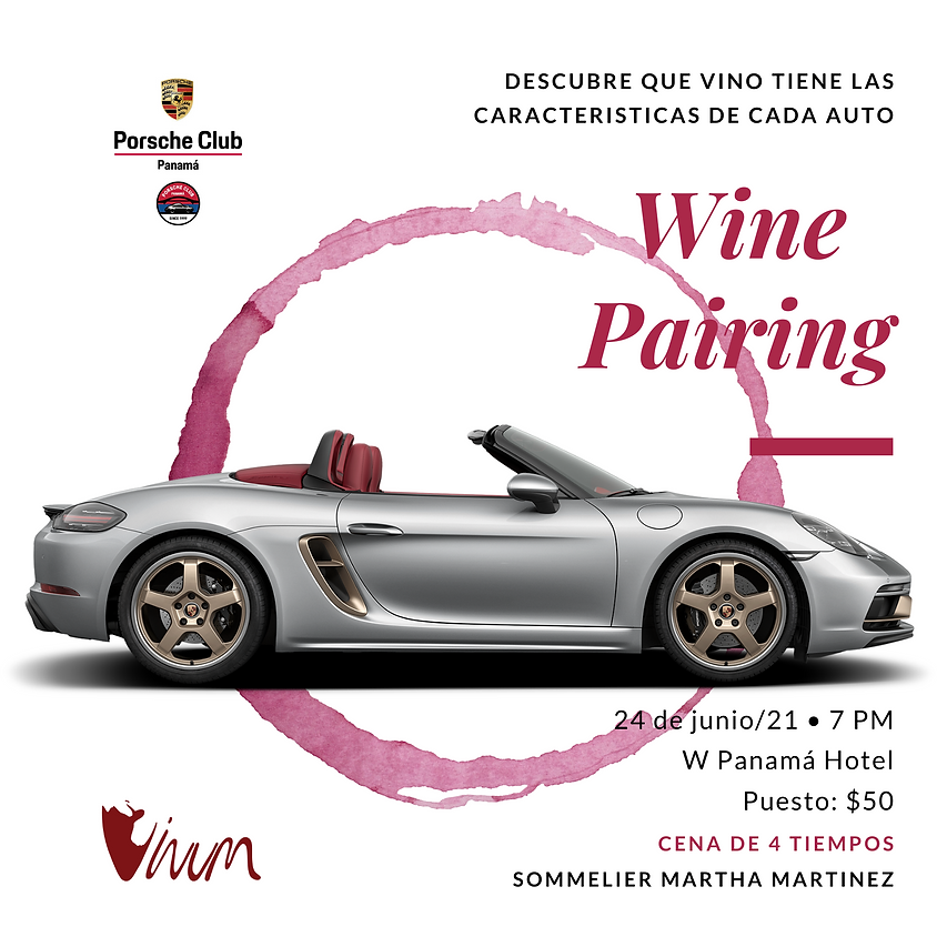 Wine Pairing - Porsche Club