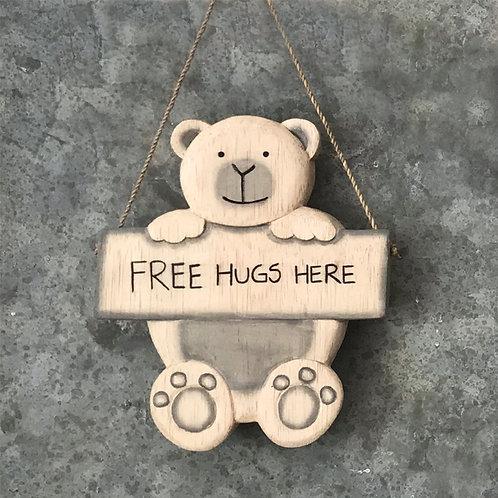 Hanging bear-Free hugs