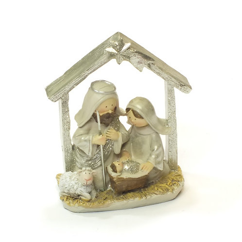 Pastel Resin Mini Nativity Ornament