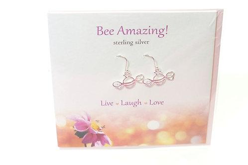 Bee Amazing Card with Earrings
