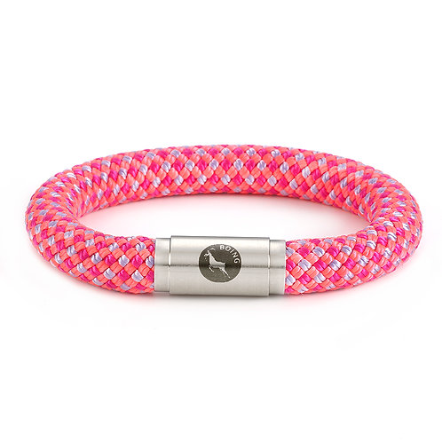 Rope Bracelet - Wild Flamingo - with Magnetic Catch