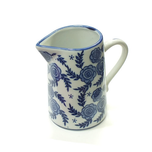 Blue/White Floral Ceramic Jug