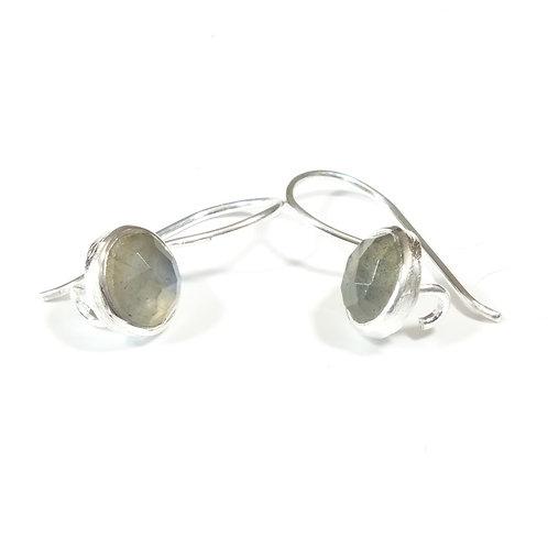 Semi Precious Stone Drop Earrings SS -Sep -Labradotite/Apatite