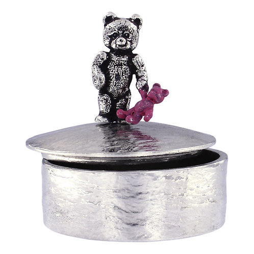 Teddy with Pink Baby Teddy Trinket Box