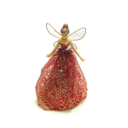 Christmas Fairy Tree Topper Red