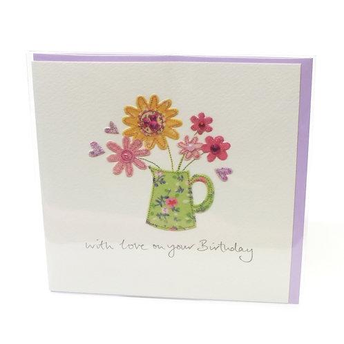 Birthday Flowers in jug - Card